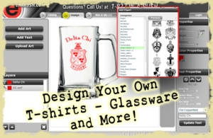 Design Your own Greek Fraternity & Sorority T-shirts!